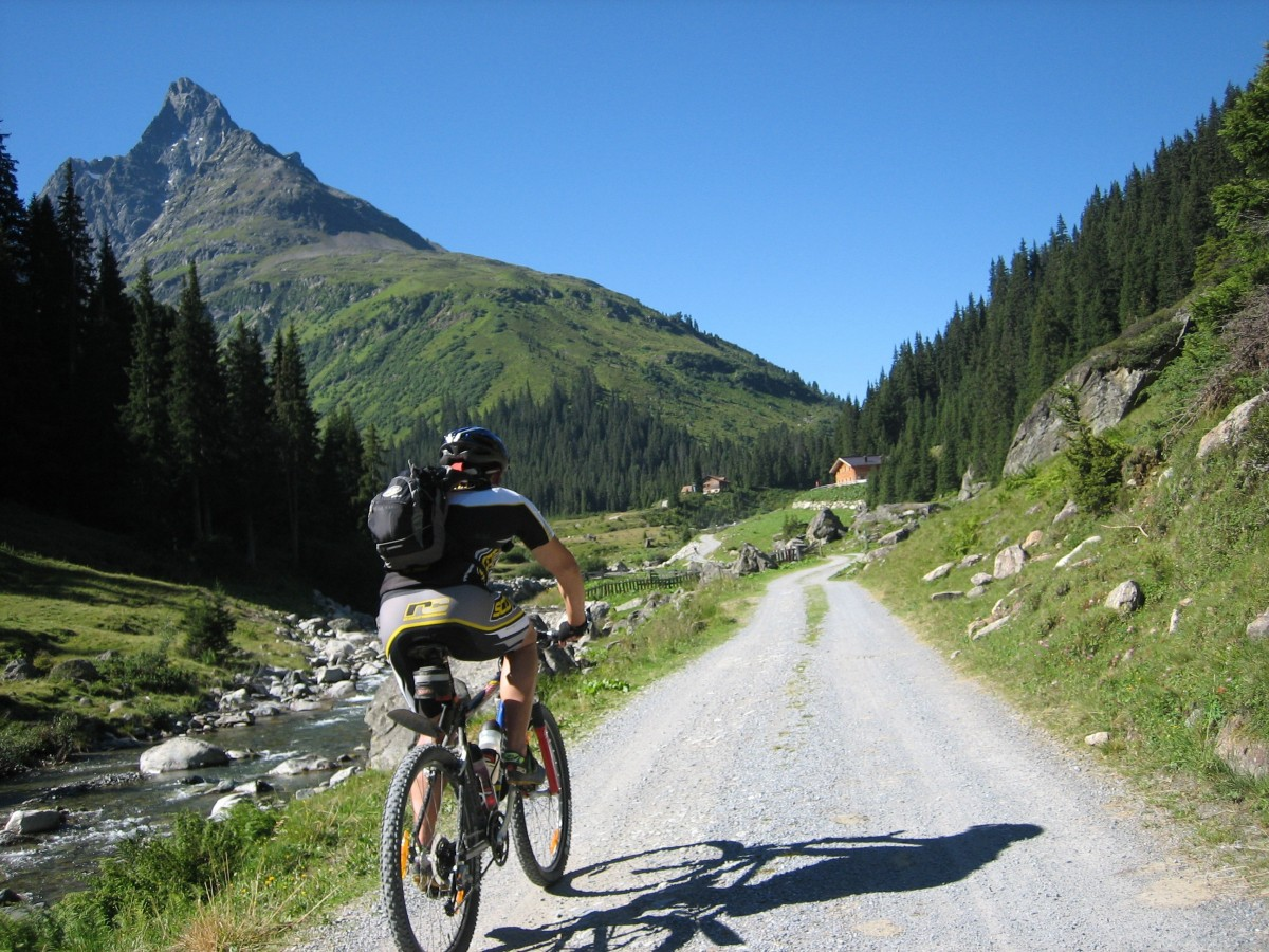 MTB Freeride Group in the Alps